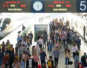 福州铁路昨日迎来返程客流高峰
