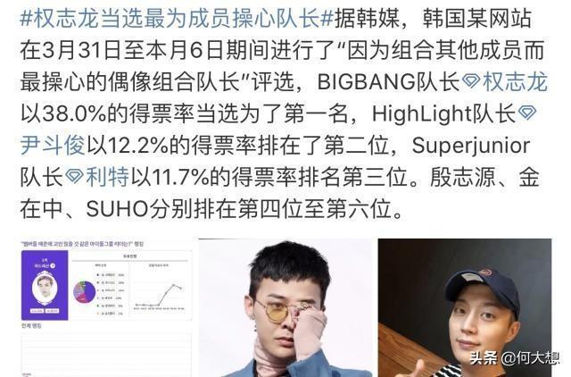bigbang胜利拖累了整个团 权志龙当选成为最操心队长