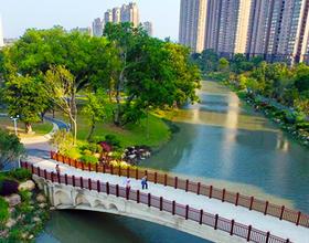福州仓山流花溪:风景如画景观河