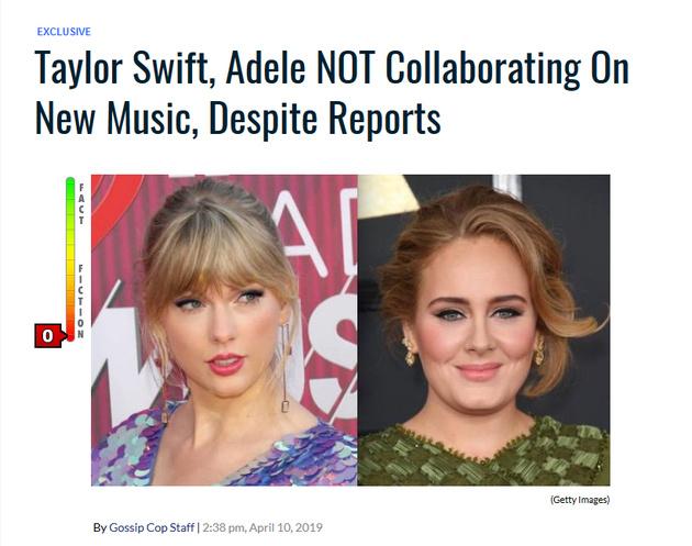 霉霉阿黛尔将合作是真的假的?知情人透露内幕称百分百假消息