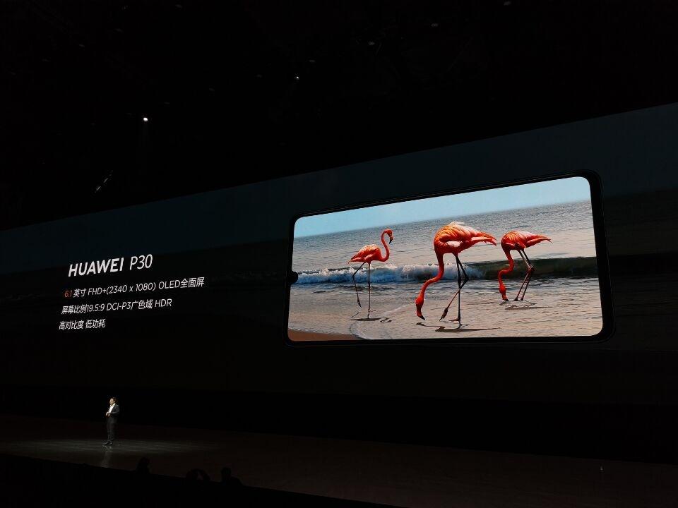 华为P30和P30 Pro亮相:OLED屏+屏幕指纹