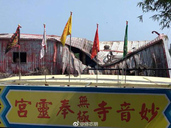 陈志朋父母家遭人纵火现场照片曝光 所有都被烧空了令人后怕