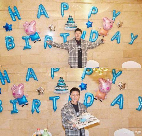 贾乃亮35 岁生日收意外惊喜 对镜比耶心情大好