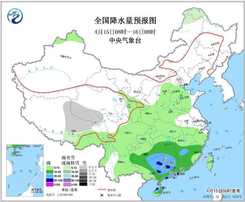 华南江南南部等地有强降水 北方部分地区有大风沙尘