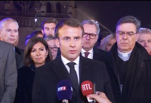 马克龙巴黎圣母院将重建什么情况 马克龙将发起国际募捐活动
