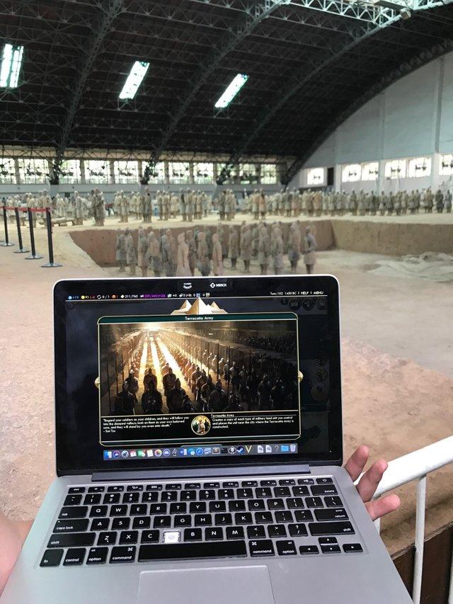 硬核寻访!《文明6》玩家在实景前完成游戏奇观建造