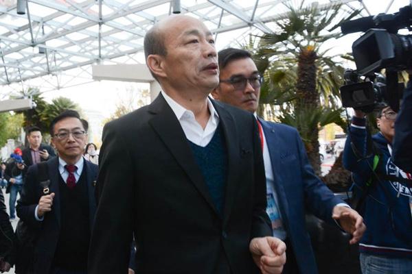 韓國瑜現不考慮2020大選 期待郭臺銘的考量結果