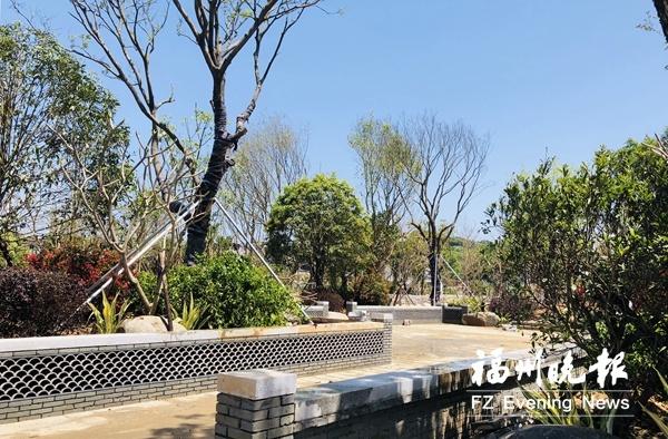 福州雙湖互通旁精品公園即將開放 打造多處園林小品