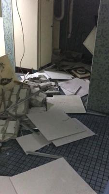 台师大建筑物传灾情 学生高喊:自主休假一个月