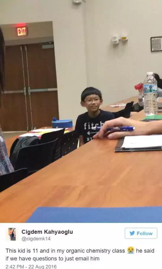 11岁天才华裔少年轰动全美,小小年纪碾压一票美大学生!