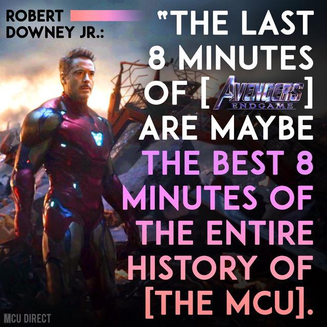 复联4全片看完太激动,钢铁侠:最后8分钟是史上最佳