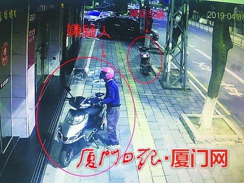 55岁惯偷戴粉色安全帽在监控下偷车 3月才放出来又被抓