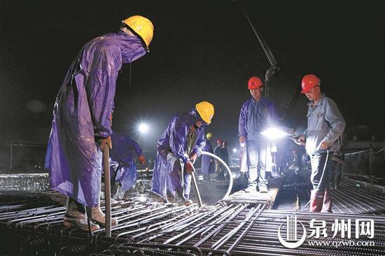 泉州后渚大桥东互通首条上跨匝道合拢 预计7月竣工通车