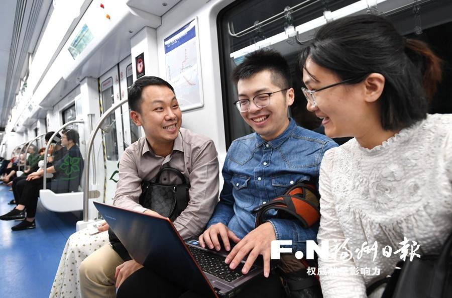 """穿江过城感受""""高新"""" 福州地铁2号线试乘体验第二日热度不减"""