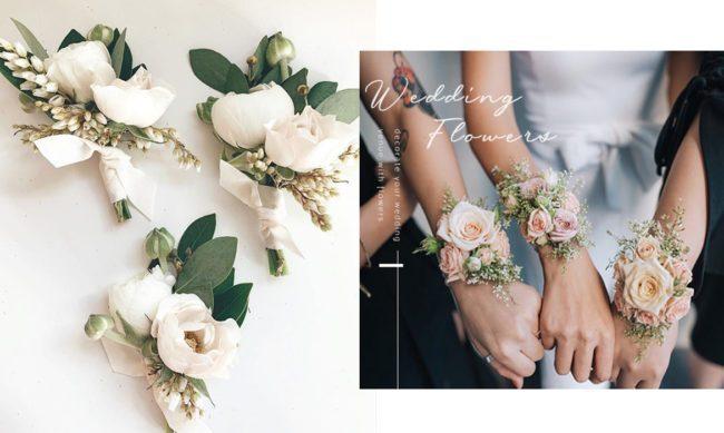 伴郎和伴娘是婚礼重点 花卉也是不可或缺的点缀