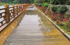休闲栈道设施损坏不便民 龙岩长汀县水利局回复将于本月底修复