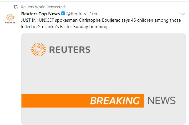 IS宣布对斯里兰卡爆炸负责,斯里兰卡发生爆炸最新消息