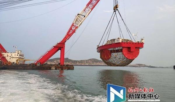 """海上福州重点项目——""""振渔1号""""落户连江定海湾"""