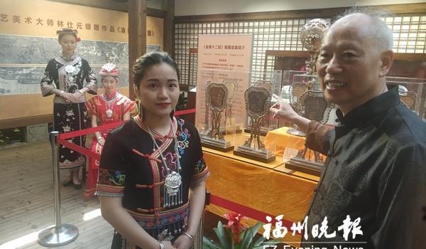 畲族银雕在福州三坊七巷展出 将持续到5月9日免费开放