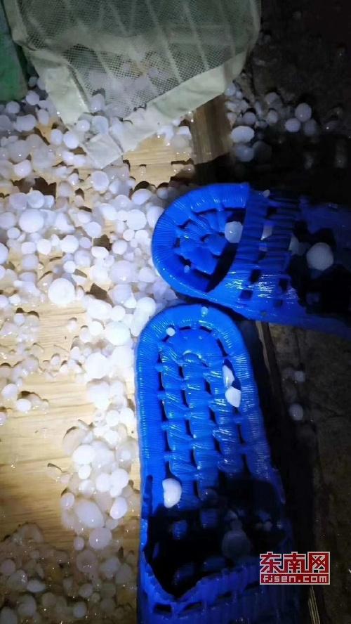 三明多地出现冰雹 伴有短时强降水