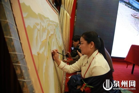 百米世界纪录_百米唐卡长卷再现泉州海丝文化胜景
