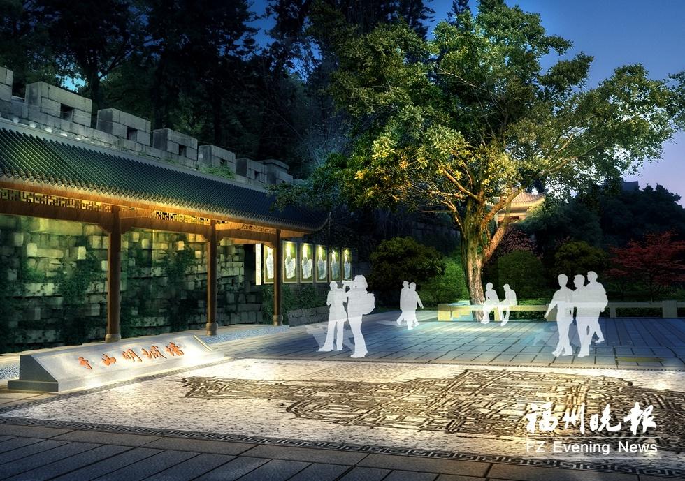 福州于山明城墙动建遗址公园 工程计划6月完工
