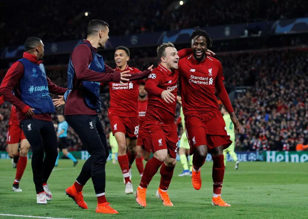 歐冠半決賽利物浦4-0大勝巴薩 梅西懵了 克洛普笑了
