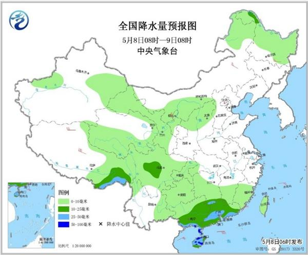冷空氣要撤啦!今日全國降水整體弱 華南仍有強對流