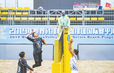 首屆世界殘疾人沙排國際賽 在平潭龍王頭沙灘開賽