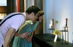 故宫馆藏文物复刻展在福州市朱紫坊兰园揭幕