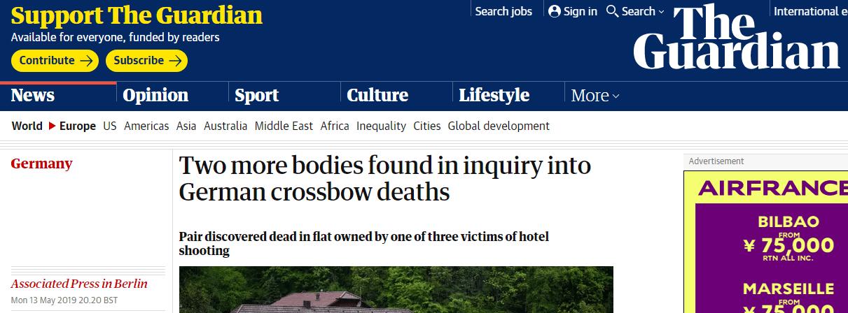 德国十字弓命案怎么回事?德国十字弓命案作案细节揭秘死了多少人