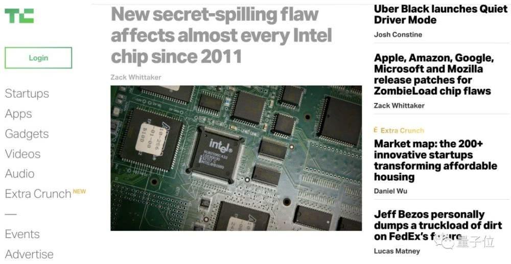 英特尔再现安全漏洞:2011年后计算机几乎全中枪