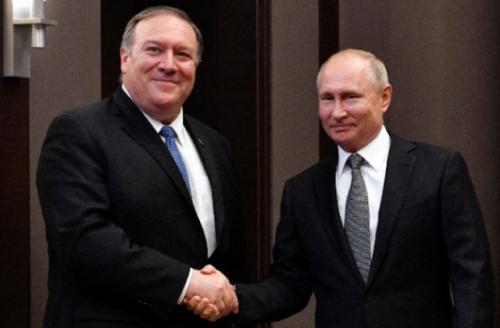 普京会见美国务卿
