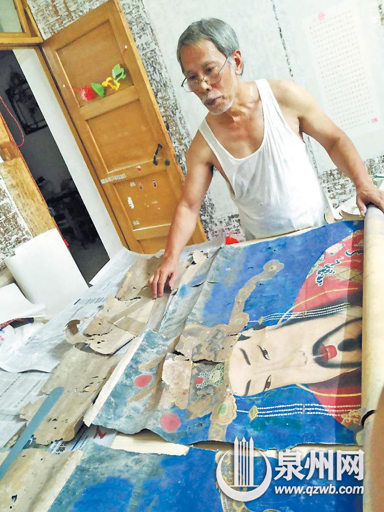 泉州本土书画装裱大师俞新生:我在古城修古画