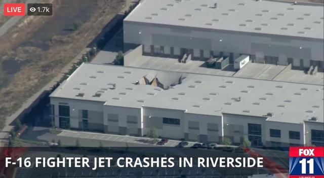 突发!美国一架F-16战机撞击大楼,现场画面曝光