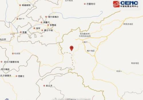 新疆阿克陶县地震详情 新疆阿克陶县一小时为什么连震四次怎么回事