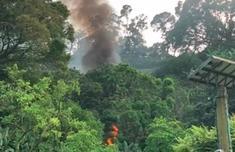 香港直升机坠毁最新进展,香港直升机坠毁致1死现场图
