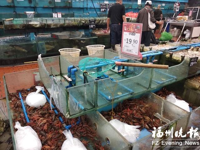 """福州小龙虾批发价""""跳水"""" 餐馆小龙虾为何没降价?"""