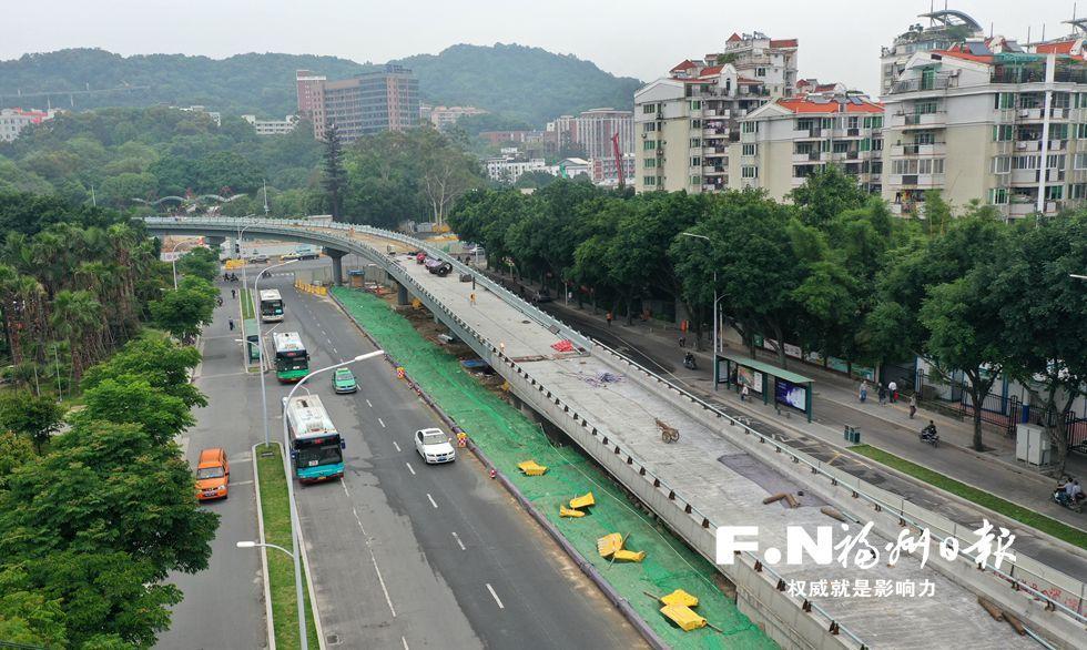 福州杨桥路江滨节点下月完成改革 新匝道将先行通车