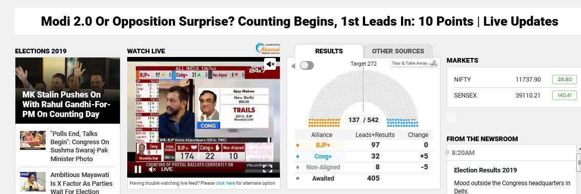 印度大選計票工作剛剛開始 莫迪能否連任今天揭曉