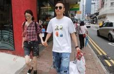 洪欣張丹峰逛街引熱議