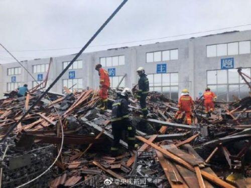 江苏企业车间坍塌现场图曝光 江苏企业车间坍塌原因是什么?