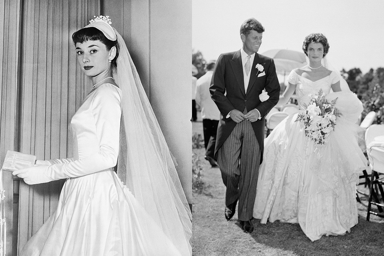 如今依然別致不過時的6位經典女神的婚紗造型