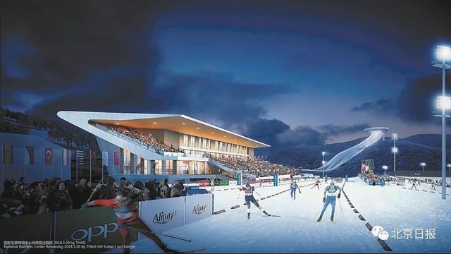 中国首座跳台滑雪中心有何特别?观好众能从背后看到运动员出发状态
