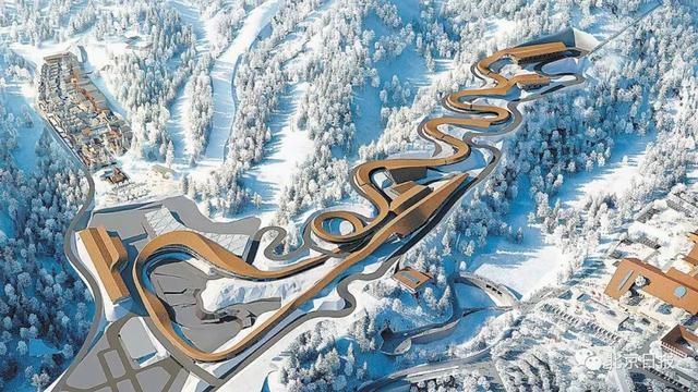 中国首座跳台滑雪中心有何特别?观众能从背后看到运动员出青衣发状态