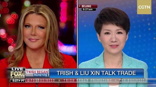 """中美男主播""""跨洋辩说"""":翠西没""""发怒"""" 刘欣对答如流"""