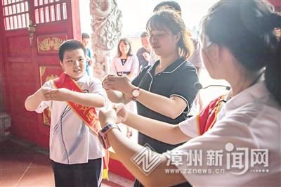"""長泰文廟:小志愿者講解""""大文化"""""""