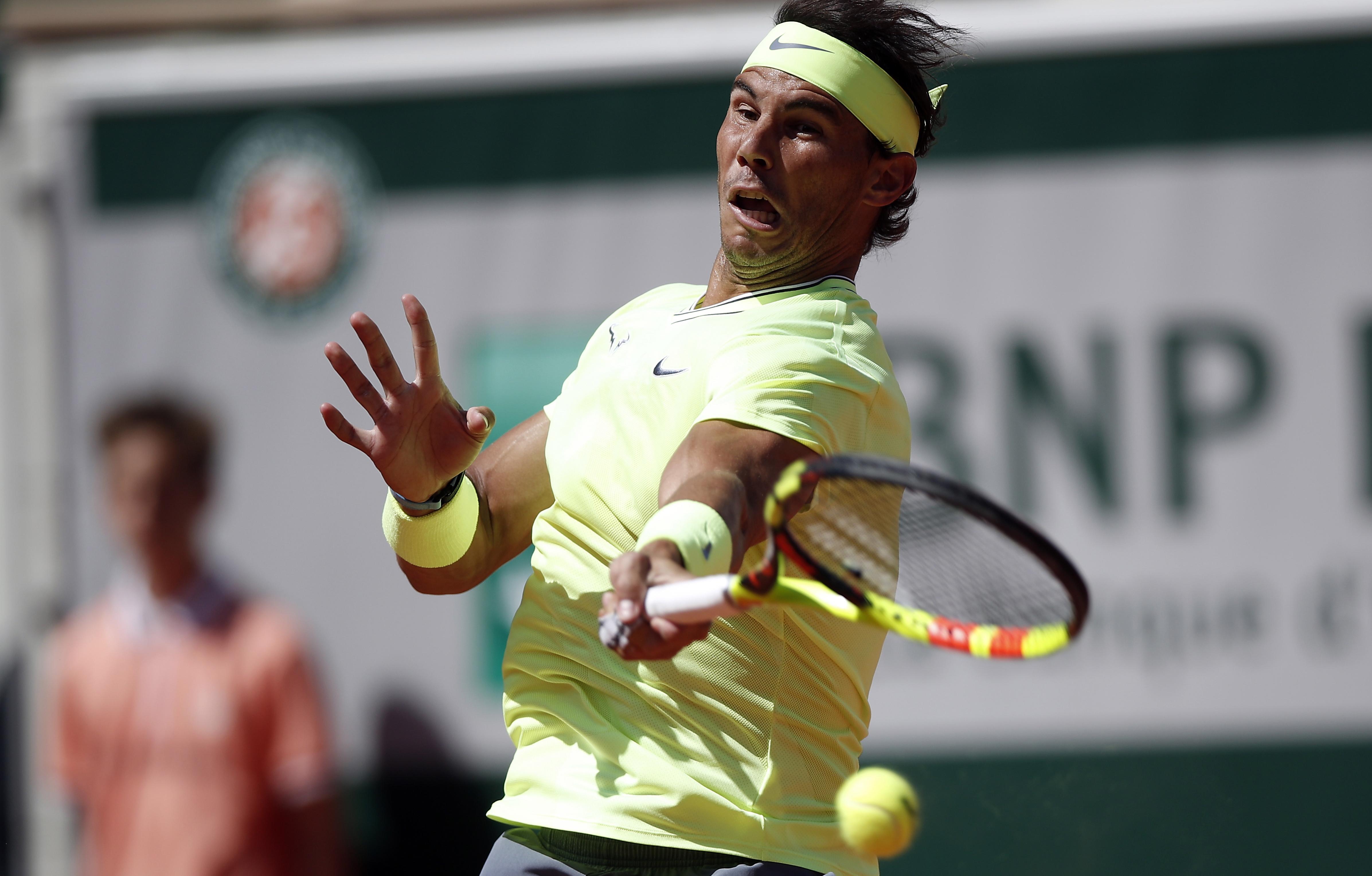 法網納達爾晉級八強 以3比0戰勝隆代羅