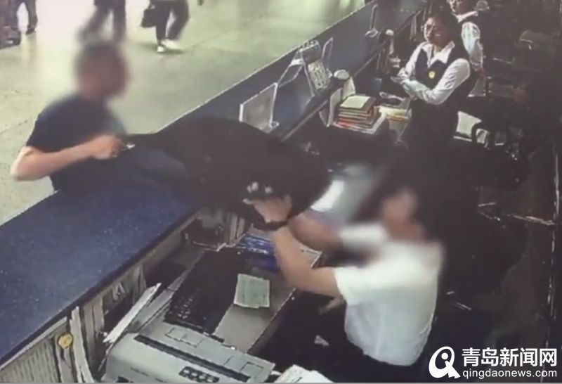 撒潑旅客毆打青島機場工作人員 被拘5天
