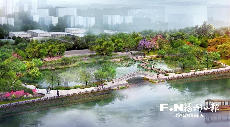 """福州光明港""""新十景""""拟月底动建 打造福州最长滨水景观带"""